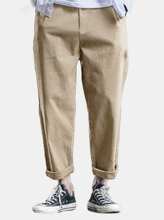 Men's Retro Casual Loose Waist And Small Leg Pants