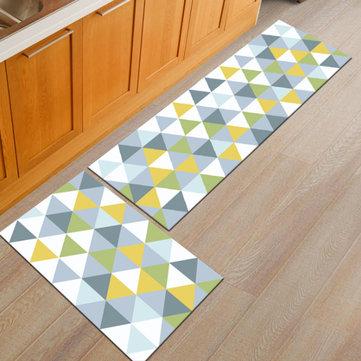 2 szt. Dywanik na podłogę w kuchni Antypoślizgowy dywanik do łazienki do domu Zestaw mat do drzwi