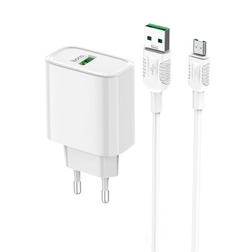 HOCO 22.5W QC3.0 Fast Charging USB Charger Adapter For iPhone 8Plus XS 11Pro Huawei P30 Pro Mate 30 Xiaomi Mi9 9Pro  Oneplus 6T 7 Pro