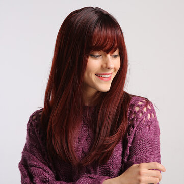 Buy Synthetic Wig kinky Straight Natural Straight Bob Asymmetrical Side Part  with Litecoins with Free Shipping on Gipsybee.com