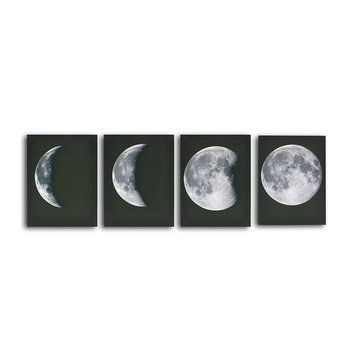 Buy 4pcs Abstract Moon Canvas Print Wall Art Painting Pictures Home Decor Poster Frame with Litecoins with Free Shipping on Gipsybee.com