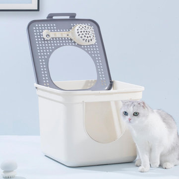 FURRYTAIL Cat Litter Box Toilet Close Pet Cats Potty Litter Boxes Double Door Design With Scoop For Pets Kitty Home Pet Supplies From Xiaomi Youpin