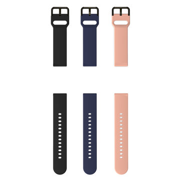 BlitzWolf® 20mm Universal Replacement Silicone Watch Band for BW-HL1 /Galaxy Watch Active2/ Amazfit Bip Lite Smart Watch