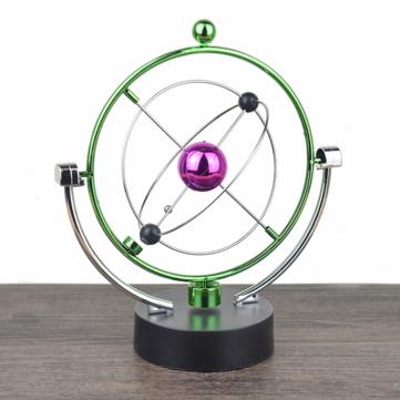 1 pieza de instrumento de movimiento perpetuo péndulo esférico orbital giratorio adorno de juguete decoraciones de escritorio para el hogar oficina regalos de cumpleaños