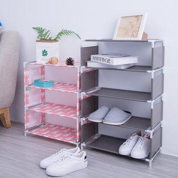 5 Layers Non-woven Shoe Rack Large Size Living Room Fabric Dustproof Cabinet Organizer Holder DIY Foldable Stand Shoes Shelf Bookshelf