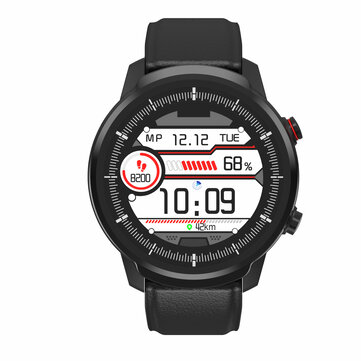 Bakeey S10P Full Touch Leather Strap Wristband Blood Pressure and Oxygen Monitor IP68 Waterproof Smart Watch