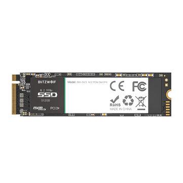 BlitzWolf®BW-NV3 PCIe Gen3*4 NVMe1.3 SSD 512GB M.2-2280 M-Key Internal Solid...