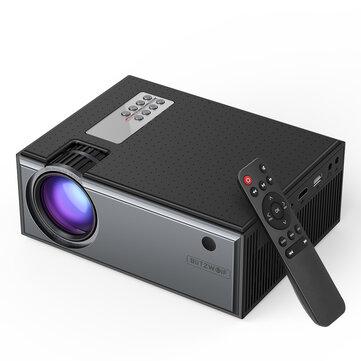 Blitzwolf® BW-VP1 LCD proiettore Supporto 2800 lumen 1080P Ingresso multi-porte Smart Home Theater portatile proiettore con controllo remoto
