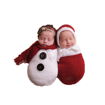Buy Newborn Baby Crochet Knit Costume Photography Photo Prop Snowman Hat Cap Set Christmas Gift with Litecoins with Free Shipping on Gipsybee.com