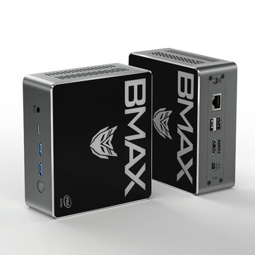 Bmax B3 Plus Mini PC Intel Pentium Gold 5405U 8GB DDR4 256GB NVMe SSD with Two Channel Speaker Intel 9th Gen UHD Graphics 610 Dual Core 2.3GHz BT5.0 HDMI Type C Win10 WiFi