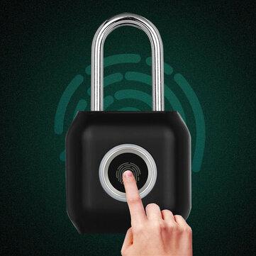 YEELOCK Smart Fingerprint Door Lock Padlock USB Charging Waterproof Keyless Anti Theft Travel Luggage Drawer Safety Lock 0.5 Second Unlock Reddot Design Award From Xiaomi Youpin
