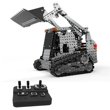 SWRC 008 2.4G 10CH 1178PCS Stainless Steel DIY RC Car for Caterpillar Forklift Model Vehicles