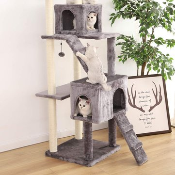 XS13-5001 Pet Cats Tree House with Hanging Ball Cat Toys Scratch Solid Woods for Cats Climbing Frame Cat Condos From Xiaomi Youpin