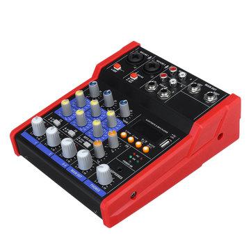 4 Channel Professional Line Mixing Live Audio Studio Sound Mixer Console 48V