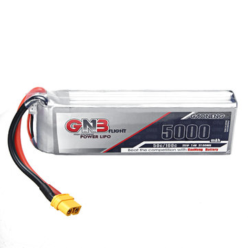 Gaoneng GNB 7.4V 5000mAh 50C 2S Lipo Battery XT60 Plug for Rc Racing Car