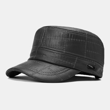 Mens Flat Top Hat Outdoor Sunscreen Military Army Peaked Dad Cap Flat Hats