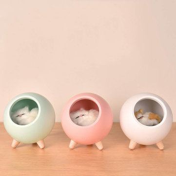 Vinivn USB Charging Atmosphere Lamp Pet House Mini Night Light Lovely Head of Bed Light for Children