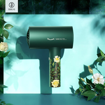 SOOCAS H3S 1800W Professional Double Negative Ion Hair Dryer Diversion Design Hot Cold Wind Bathroom Electric Quick Hair Dryer from Xiaomi Youpin