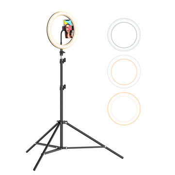 Dimmable Selfie Ring Light for Live Stream Makeup YouTube Photography 10.2 Ring Light with Stand BlitzWolf RGB LED Ring Light with Stand and Phone Holder with 10 RGB Colors /& 10 Brightness Levels