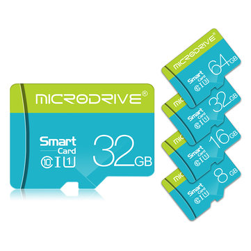 Microdrive 8GB 16GB 32GB 64GB 128GB C10 Class 10 High Speed TF Memory Card With Card Adapter For Smart Phone Xiaomi Redmi Note 8 Tablet PC GPS Camera Car DVR