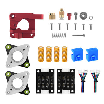 TWO TREES® Right Type Metal Extruder + TL-smoother + 2*Stepper Motor Damper + 4*Spring Kit for Creality 3D CR10 Printer