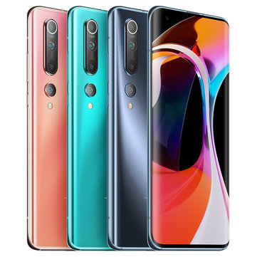 Xiaomi Mi10 Mi 10 5G CN Version 108MP Quad Cameras 8K Video Recording 8GB 128GB 6.67 inch 90Hz Fluid AMOLED Display 4780mAh 30W Fast Charge Wireless Charge WiFi 6 NFC Snapdragon 865 5G Smartphone