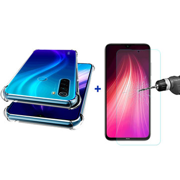 How can I buy For Xiaomi Redmi Note 8 Bakeey Air Bag Shockproof Transparent TPU Protective Case + Tempered Glass Screen Protector with Bitcoin