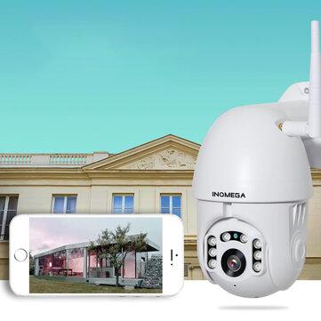 [2019 NEW] INQMEGA PTZ381 HD 1080P PTZ 360 ° Panoranic Waterproof IP Camera IR Night Version Two-way Audio