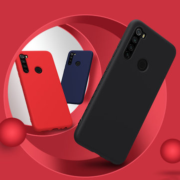 NILLKIN Smooth Shockproof Soft Rubber Wrapped Silicone Protective Case for Xiaomi Redmi Note 8