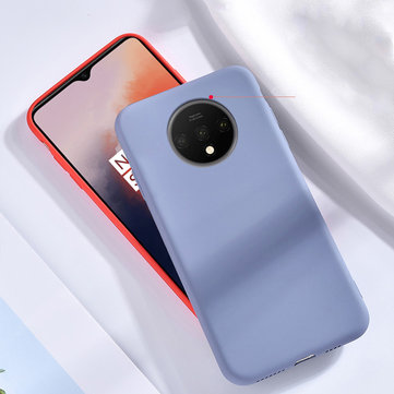 For OnePlus 7T Bakeey Smooth Anti-scratch Liquid Silicone Rubber Back Cover Protective Case