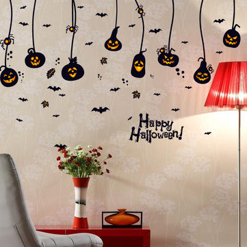 Miico SK9094 Trick Or Treat Halloween Wall Sticker Room Decoration For Be Happy Halloween Party