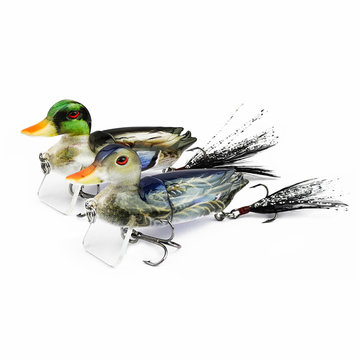 Buy Artificial Topwater Fishing Lure Duck Floating Treble Hooks Fish Tackle Equipment with Litecoins with Free Shipping on Gipsybee.com