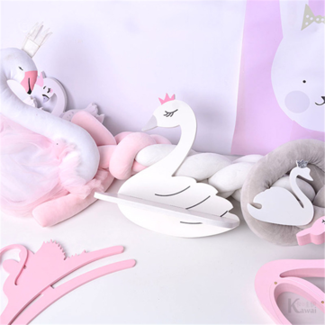 Buy Swan Pattern Nordic Storage Rack Baskets Children's Shelf Wall Hanging Home Creative Decoration  with Litecoins with Free Shipping on Gipsybee.com