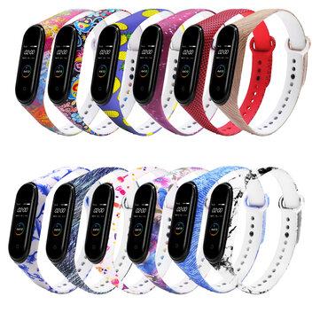Kolorowy wzór Pasek do zegarka Pasek silikonowy do Xiaomi Miband 4 Miband 3