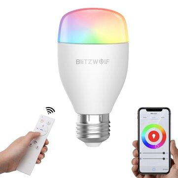 BlitzWolf® BW-LT27 AC100-240V RGBWW+CW 9W E27 APP Smart LED Bulb Work With Alexa Google Assistant + IR Remote Control