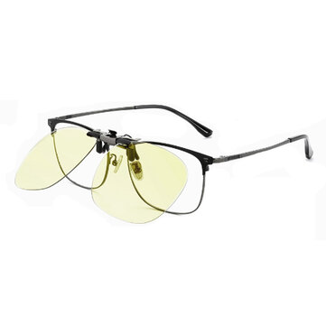 Clip On Sunglasses From Xiaomi Youpin Day And Night Dual-use Driving Riding Night Vision Lenses 270° Flip Up 9g Lightweight Glasses Lens