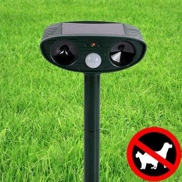 KCASA Outdoor Garden Solar Ultrasonic Repeller PIR Pest Animal Mouse Fox Cat Dog Repellent