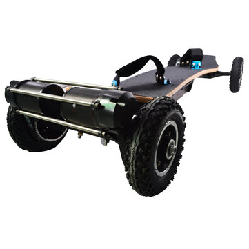 JKING H2C-01 2x1650W 36V 11AH 10S5P Brushless Motor Dual Belt Motor Off-road Skateboard 10000mAh Battery 4-wheel Electric Skateboard 200kg Payload 38km/h Top Speed