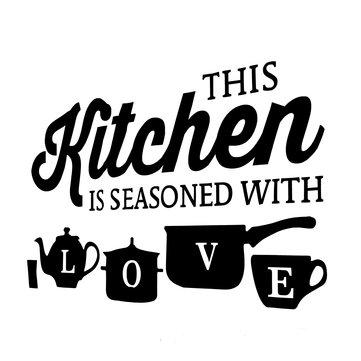 Creative Wall Sticker Decal PVC Kitchen Mural Home Restaurants Bar Art Decorations