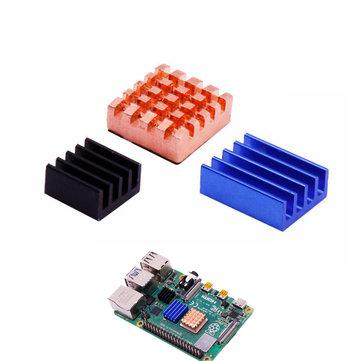 5Pcs Copper Sheet + 10Pcs Aluminum Sheets Heatsink Kit with Black Glue for Raspberry Pi 4B
