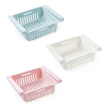 1 Piece Storage Holders Kitchen Article Storage Shelf Refrigerator Drawer Shelves Plate Layer Storage Basket Rack Desktop Organizer
