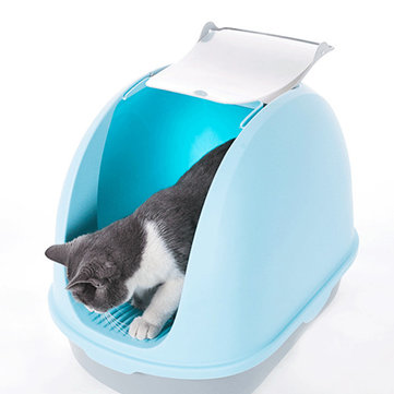 Buy Anti Splashing Cat Litter Basin Box Bedpan Handle Enclosed Nest Cat Sand Boxes Toilet Deodorant  Pet Supplies with Litecoins with Free Shipping on Gipsybee.com