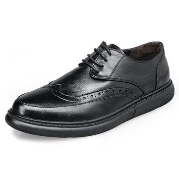 पुरुषों ब्रोग नक्काशीदार पैटर्न फीता ऊपर Soft एकमात्र आरामदायक व्यापार औपचारिक जूते