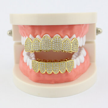 Punk Geometric Rhinestone Braces Cross Diamond Mosaic Denture Teeth Jewelry for sale in Litecoin with Fast and Free Shipping on Gipsybee.com