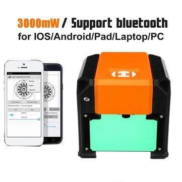 3000mW haute vitesse bureau machine de gravure laser téléphone logo usb marquage graveur imprimante bricolage découpage