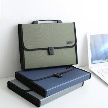 XIAOMI Ecosystem fiambres 5556 1 Pcs A4 Órgano Bolsa Carpeta de archivos abrochada de múltiples niveles Documento de negocios del estudiante Organizador Portafolio del paquete de conferencia