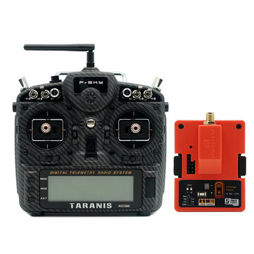 FrSky Taranis X9D Plus SE 2019 24CH ACCESS ACCST D16 Mode2 FCC Version Transmitter with R9M 2019 900MHz Long Range Transmitter Module
