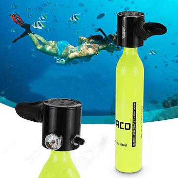 500ML Mini Air Tank Cylinder Underwater Oxygen Tank Breathing Respirator Swimming Diving Set Equipment