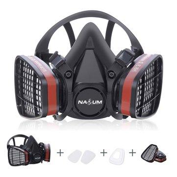 Half Face Masker Gas Respirator Lukisan Penyemprotan Keselamatan Kerja Filter Masker Debu