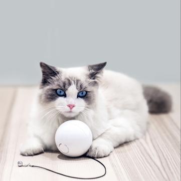 HomeRun Cerdas Interaktif Pet Mainan Otomatis 360 Derajat Berputar Bola Mainan dengan Bel Built-In Berputar Pelindung Mata LED Kucing Mainan Dari XiaoMi Eco-system